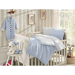Nipperland® 6-Piece Boutique Crib Bedding Set in Blue