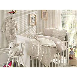Nipperland® 6-Piece Boutique Crib Bedding Set in Beige