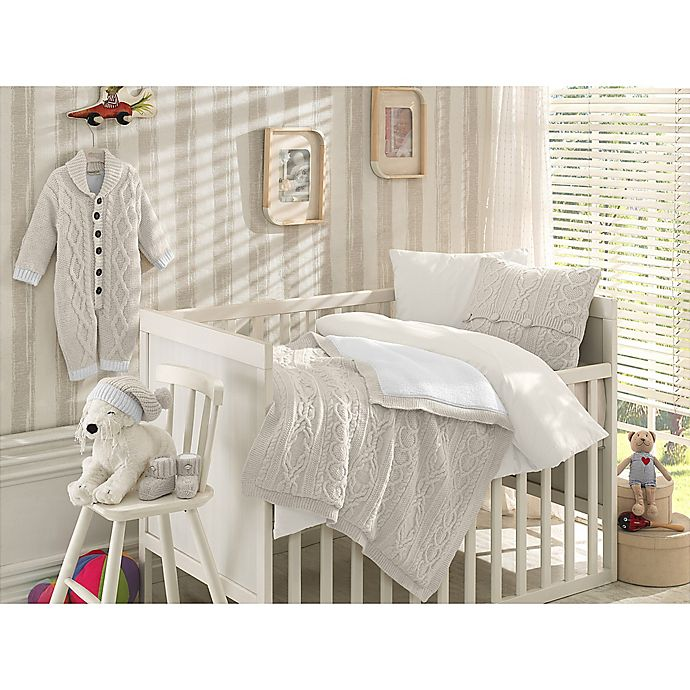 Alternate image 1 for Nipperland® 6-Piece Boutique Crib Bedding Set in Cream