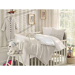 Nipperland® 6-Piece Boutique Crib Bedding Set in Cream