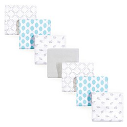 Luvable Friends® Elephant Flannel 7-Pack Receiving Blanket Set in Blue