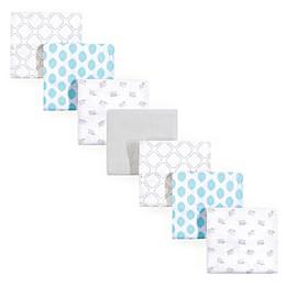 Luvable Friends® Elephant Flannel 7-Pack Receiving Blanket Set in Blue