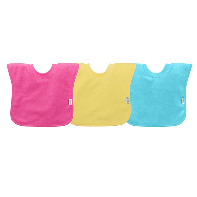 Alternate image 1 for green sprouts® by i play® 3-Pack Pull-Over Stay-Dry Bibs in Pink