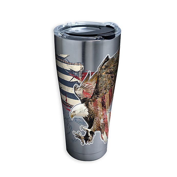 Alternate image 1 for Tervis® Distressed American Flag 30 oz. Stainless Steel Tumbler with Lid
