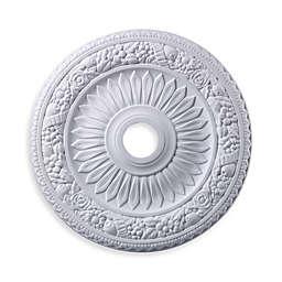 ELK Lighting 24-Inch Floral Wreath Medallion in White