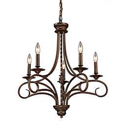 ELK Lighting Gloucester 5-Light Chandelier in Antique Bronze