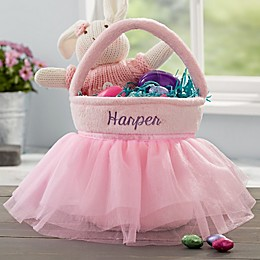 Pink Tutu Personalized Easter Basket