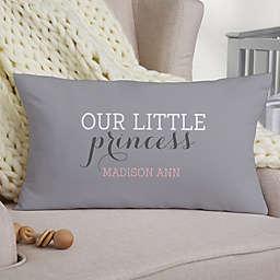 Darling Baby Girl Personalized Lumbar Keepsake Pillow
