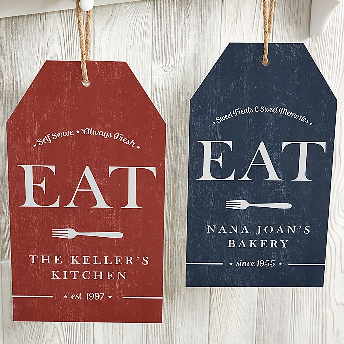 Alternate image 1 for EAT Personalized Large Kitchen Wall Tag