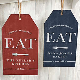 EAT Personalized Large Kitchen Wall Tag