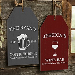 Cocktail Lounge Personalized Wall Tag