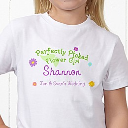 Perfectly Picked Flower Girl Personalized Hanes® Youth T-Shirt