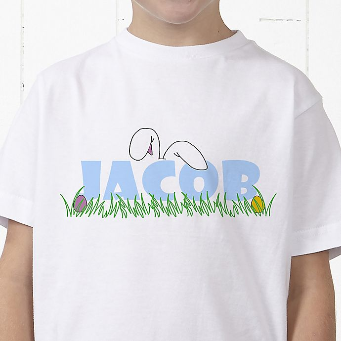 Alternate image 1 for Ears To You Personalized Easter Hanes® Youth T-Shirt