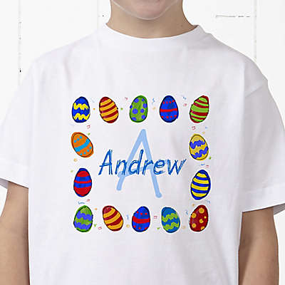 Colorful Eggs Personalized Hanes® Youth T-Shirt