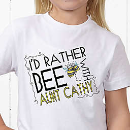 I'd Rather Bee With... Personalized Hanes® Youth T-Shirt