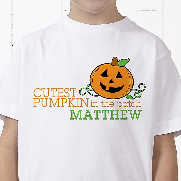 Alternate image 1 for Cutest Pumpkin In The Patch Personalized Hanes® Youth T-Shirt