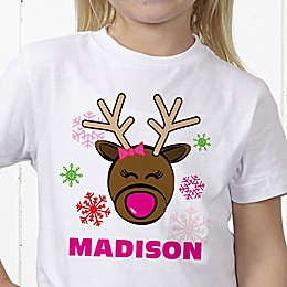 Christmas Reindeer Personalized Hanes® Youth T-Shirt