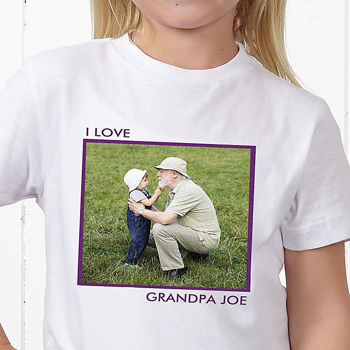 Alternate image 1 for Picture Perfect Personalized Hanes® Youth T-Shirt