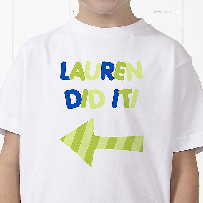 Alternate image 1 for They Did It! Personalized Hanes® Youth T-Shirt