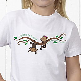 Two Little Monkeys Personalized Hanes® Youth T-Shirt