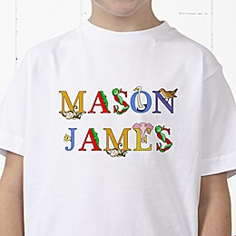Alphabet Animals Name Personalized Hanes® Youth T-Shirt