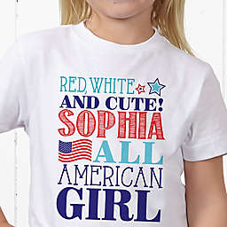 Red, White and Blue Personalized Hanes® Youth T-Shirt