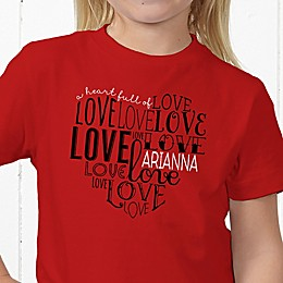 A Heart Full Of Love Personalized Hanes® Youth T-Shirt