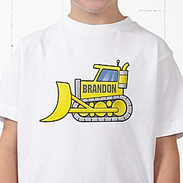 Construction Trucks Personalized Hanes® Youth T-Shirt