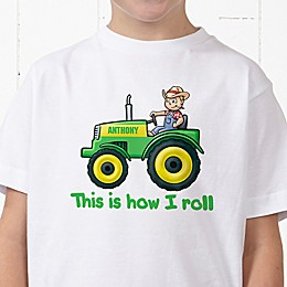 Tractor Time Personalized Hanes® Youth T-Shirt