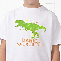 Dinosaur Personalized Hanes® Youth T-Shirt