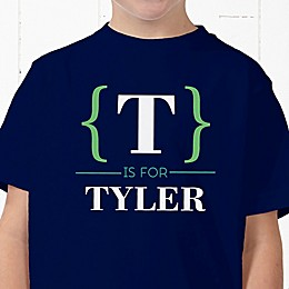 Name Bracket Personalized Hanes® Youth T-Shirt