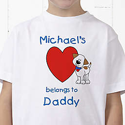 Puppy Heart Belongs Personalized Hanes® Youth T-Shirt