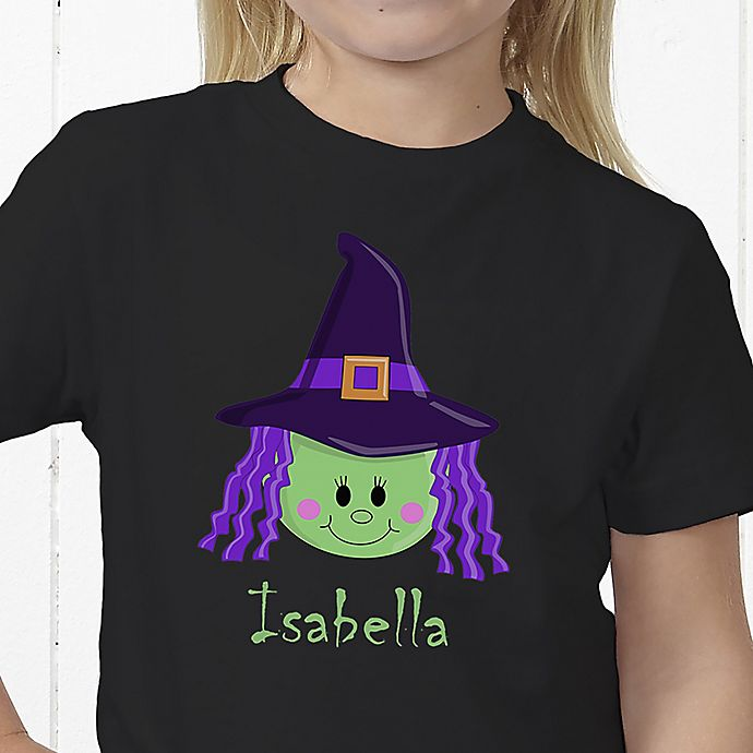 Alternate image 1 for Lil' Witch Personalized Hanes® Youth T-Shirt