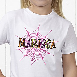 Spider Webs for Her Personalzied Hanes® Youth T-Shirt