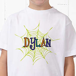 Spider Webs for Him Personalized Hanes® Youth T-Shirt