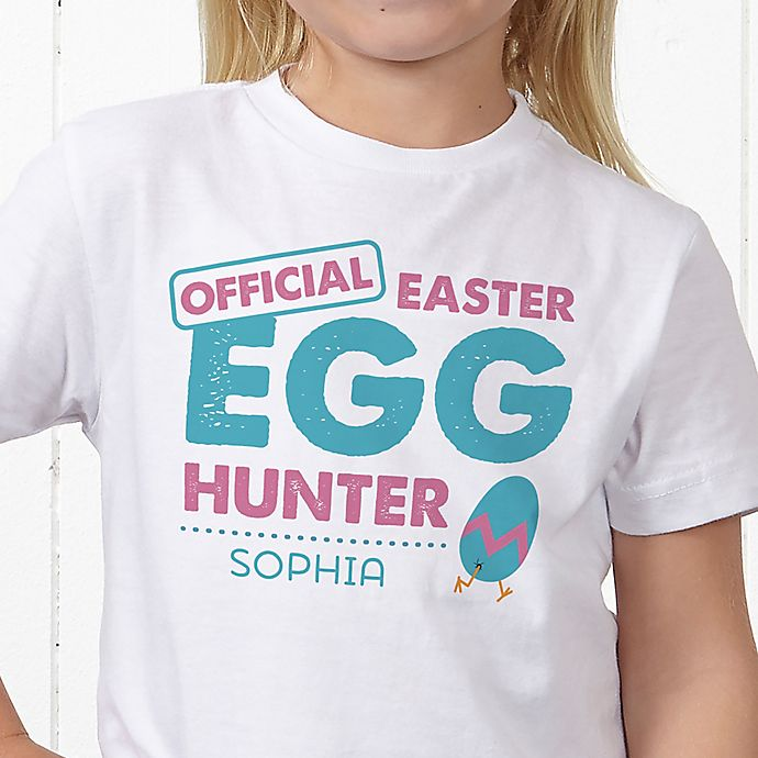 Alternate image 1 for Easter Egg Hunter Personalized Hanes® Youth T-Shirt