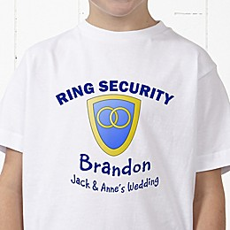 Ring Security Personalized Ring Bearer Hanes® Youth T-Shirt