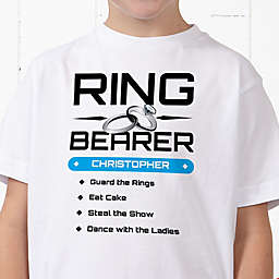 Ring Bearer Personalized Hanes® Youth T-Shirt
