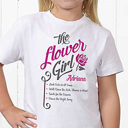 The Flower Girl Personalized Hanes® Youth T-Shirt