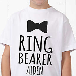 Ring Bearer Bow Tie Personalized Hanes® Youth T-Shirt