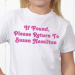 You Name It Personalized Hanes® Youth T-Shirt