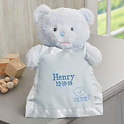 Gund® Embroidered Peek-A-Boo Blue Teddy Bear