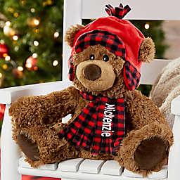 Buffalo Check Personalized Christmas Teddy Bear