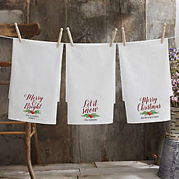 Nostalgic Noel Personalized Flour Sack Towel