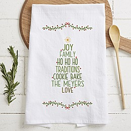 Christmas Family Tree Personalized Tea Towel
