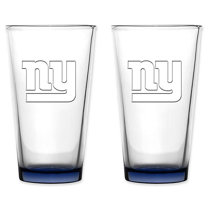 Alternate image 1 for NFL 16 oz. Embossed Pint Glasses (Set of 2)