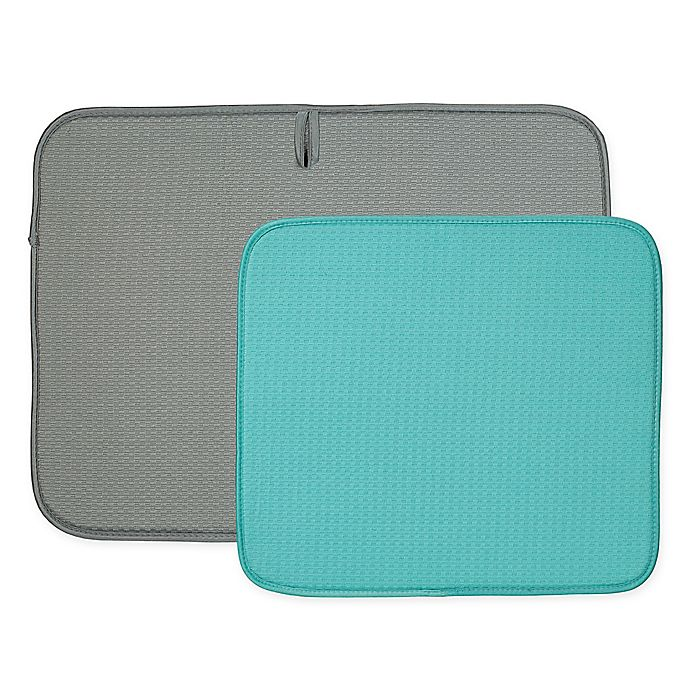 Alternate image 1 for The Original™ 2-Piece Dish Drying Mat Set in Grey