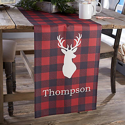 Cozy Cabin Personalized Table Runner