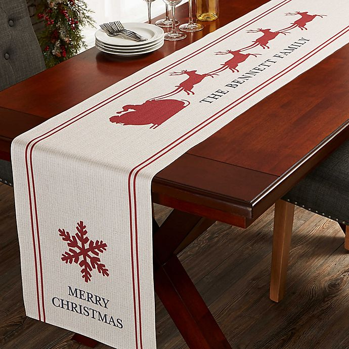 Nostalgic Noel Personalized Table Runner Bed Bath Beyond