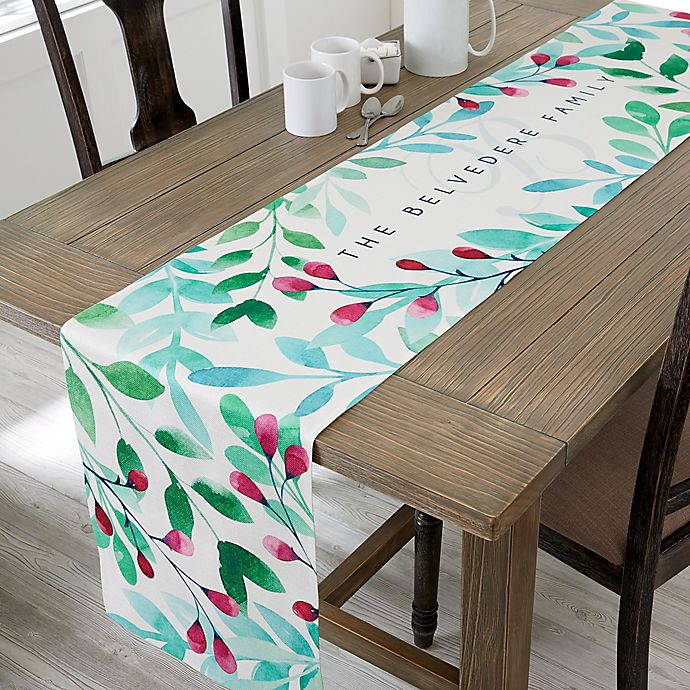 Alternate image 1 for Spring Floral Personalized Table Runner